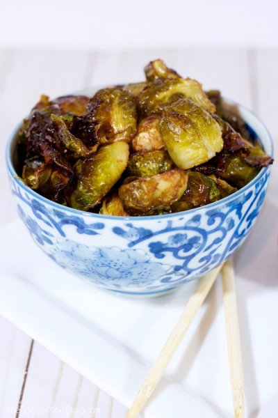 Crispy, sticky, sweet - These Roasted Brussels Sprouts with Sweet Soy Glaze will change your life!! Only 4 ingredients and ready in 20 minutes!