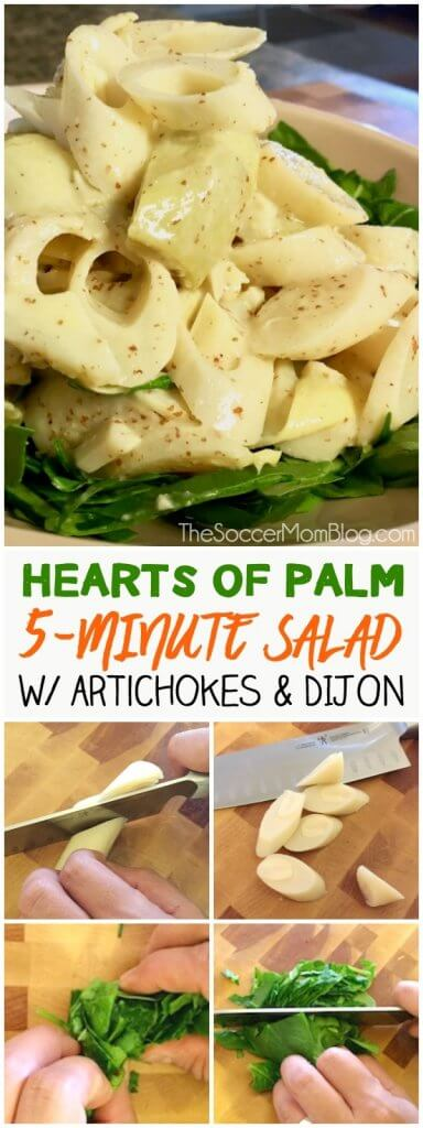 This refreshing Hearts of Palm and Artichoke Salad is ready in 5 minutes! Unique, elegant, and easy to make with just a few simple ingredients. Click for photo step-by-step directions!