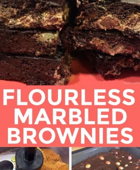 Marbled Flourless Chocolate Avocado Brownie Bars