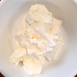 Cool Whip in mixing bowl