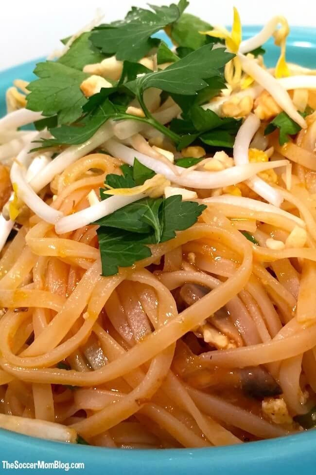 This easy authentic Pad Thai recipe is everything! Tastes just like takeout — and ready at home in 30 minutes!