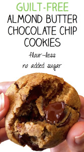 Guilt-Free Almond Butter Chocolate Chip Cookies
