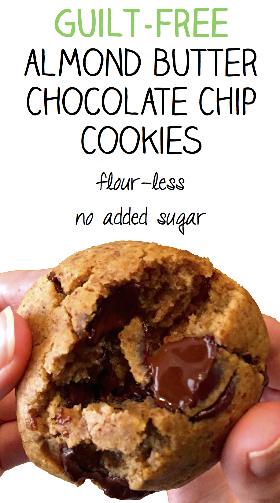 Almond Butter Chocolate Chip Cookies - The Soccer Mom Blog