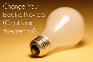Change your electric provider