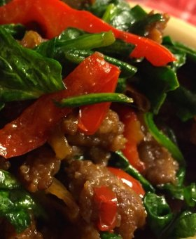 Simply Delicious Sausage & Spinach Skillet (Only 4 Ingredients!)