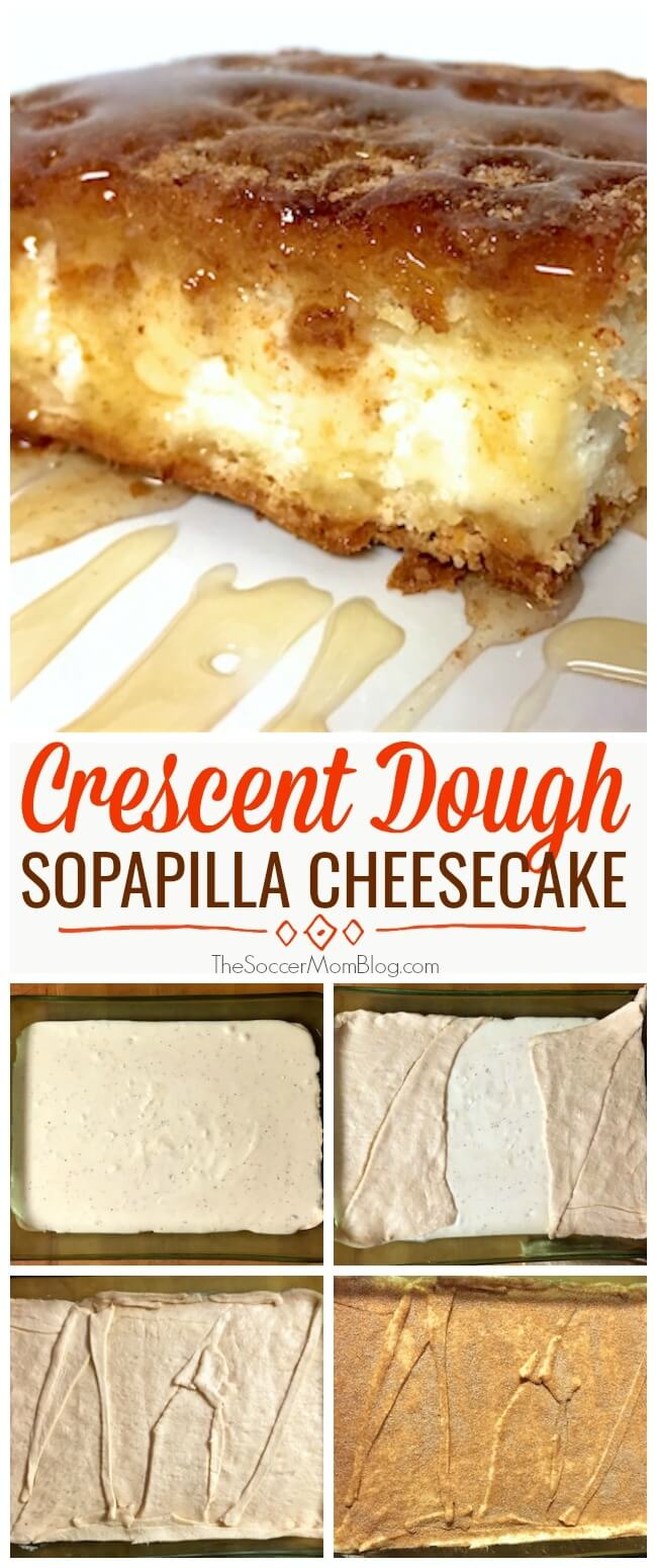 This Sopapilla Cheesecake is one of my husband's most requested desserts of all time!
