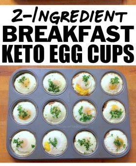2-Ingredient Keto Egg Breakfast Cups