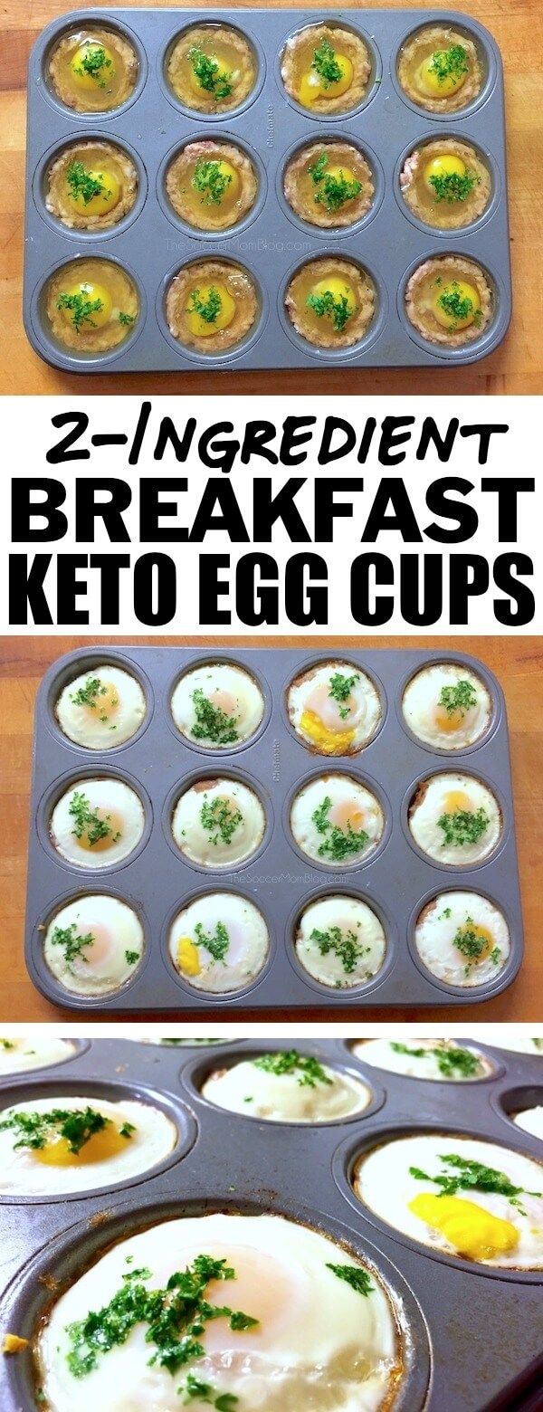 Give yourself an energy boost to start the day with these protein-packedKeto Egg Cups! Only 2 simple ingredients & ready in 20 minutes!