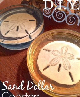 DIY Sand Dollar Resin Coasters