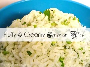 Fluffy & Creamy Coconut Rice