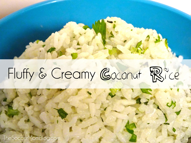 Fluffy & Creamy Coconut Rice Recipe