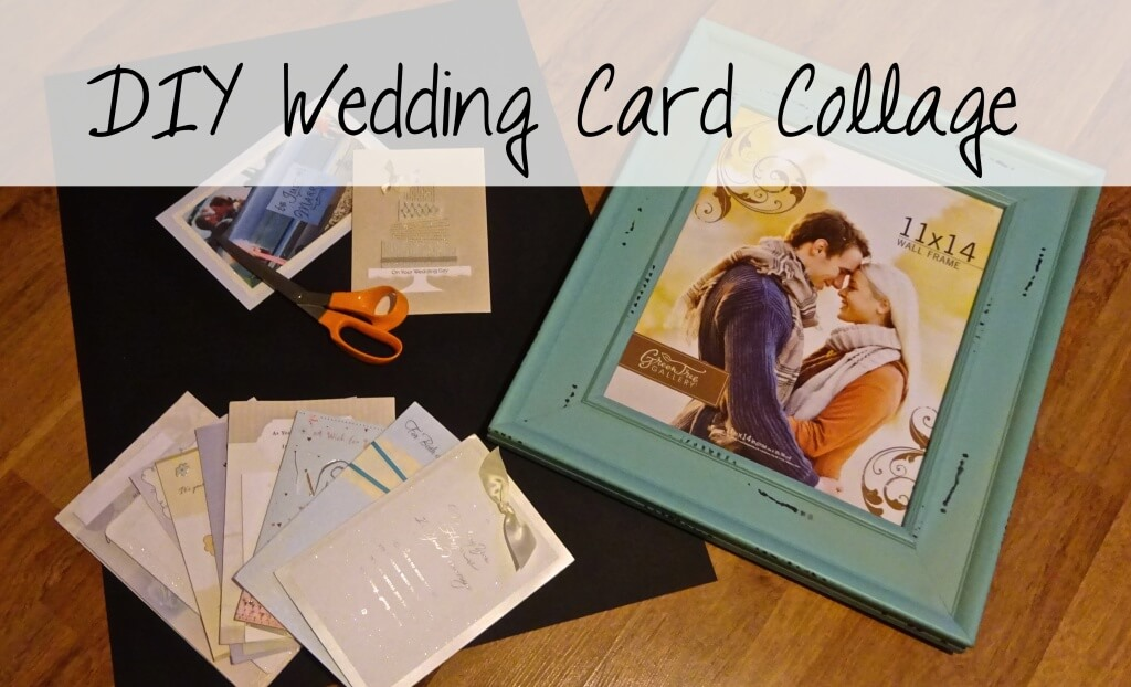 DIY wedding card collage