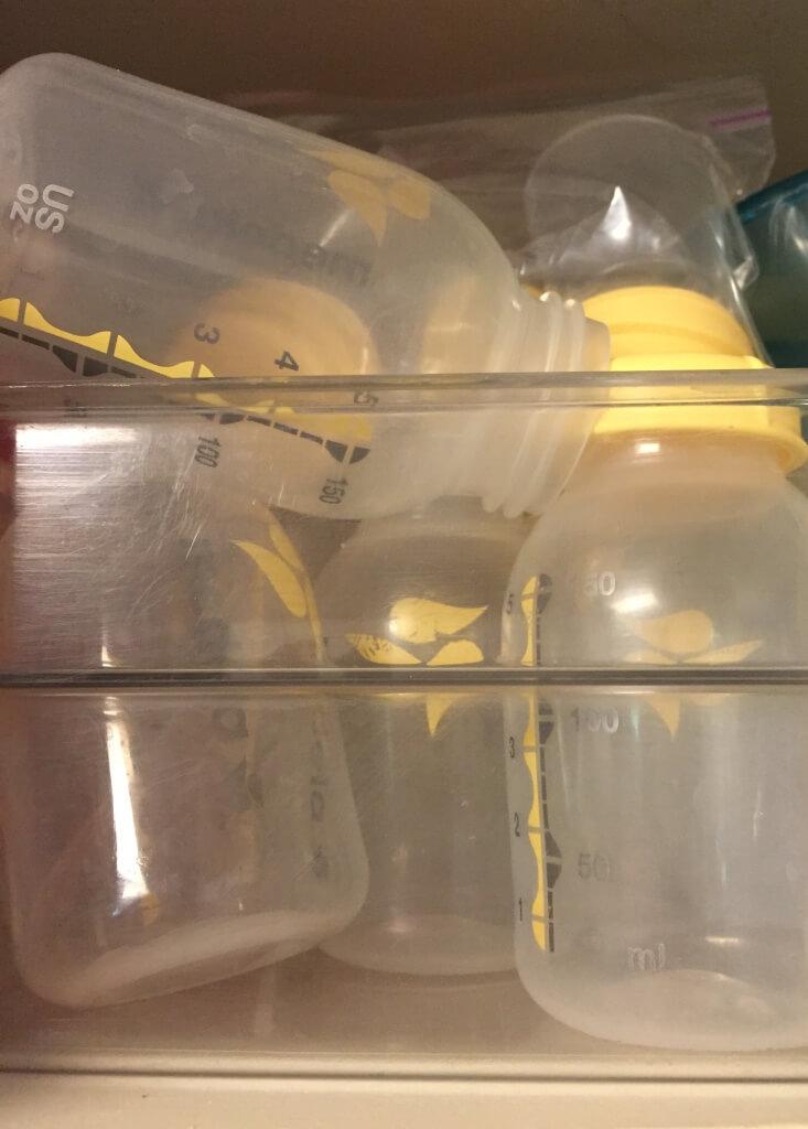 empty breast milk bottles
