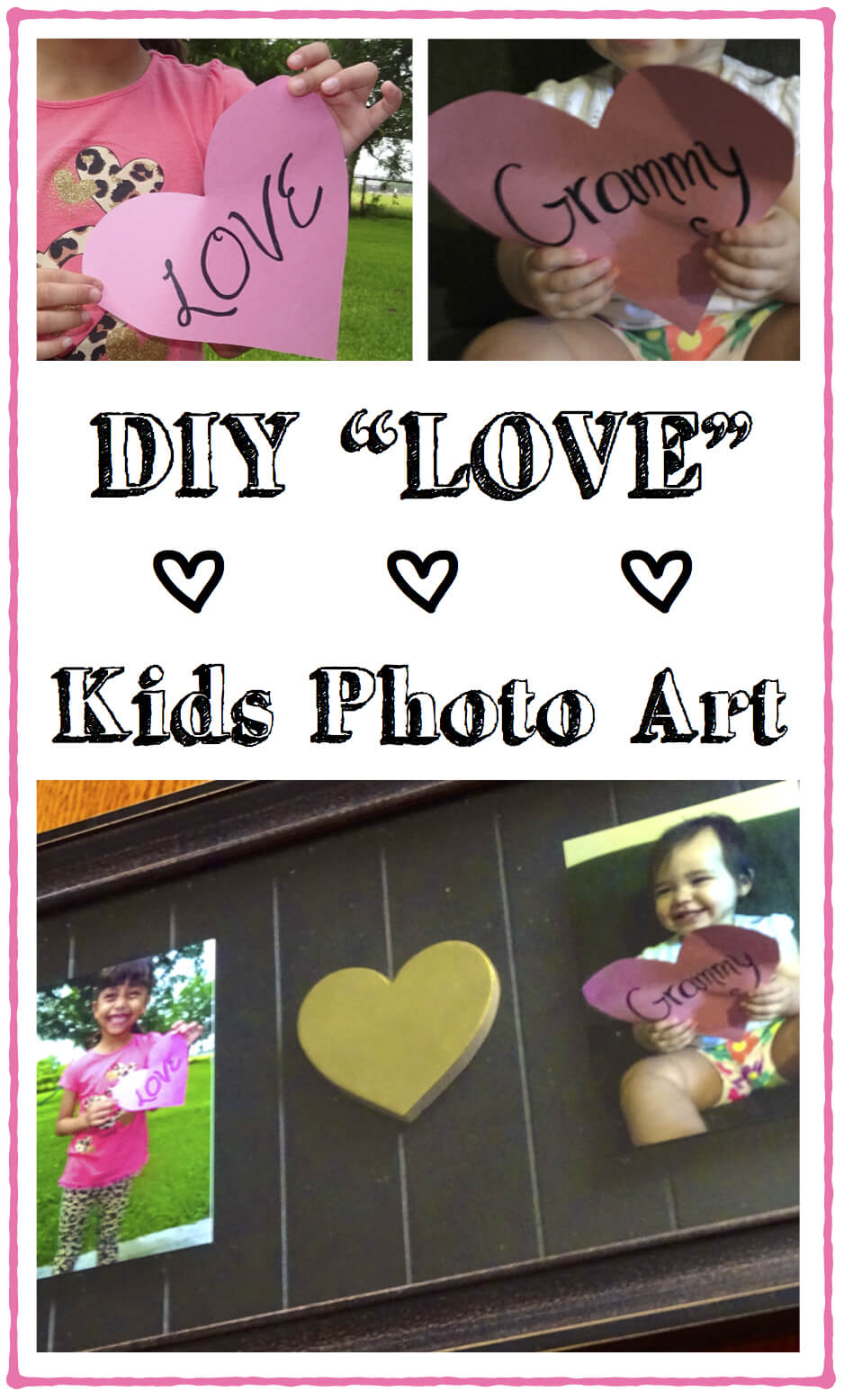 DIY Love Kids Photo Art