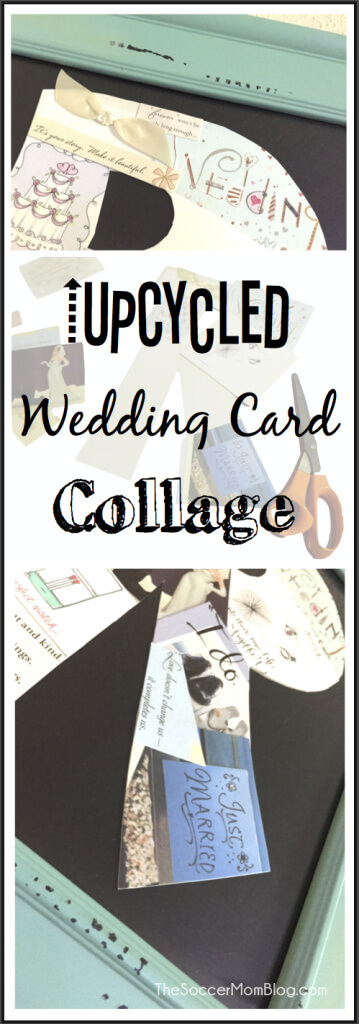 Upcycled DIY Wedding Card Collage