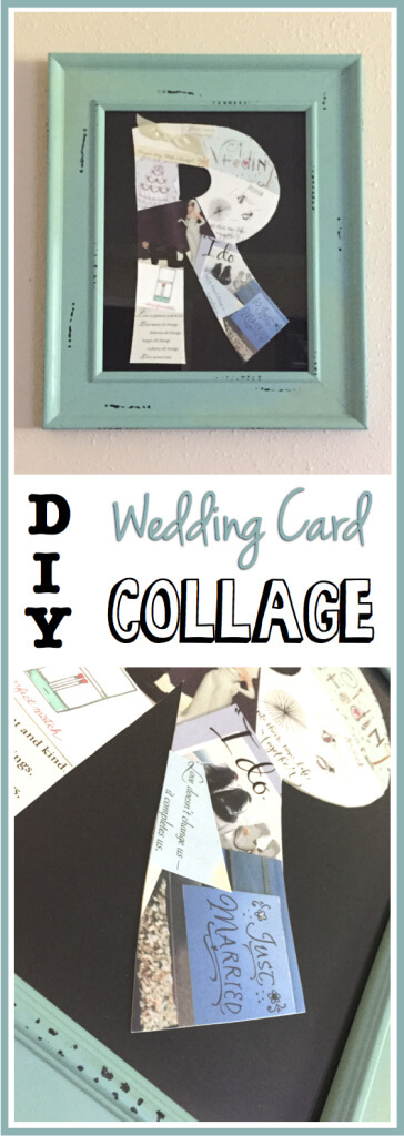 DIY Family Initial Wedding Card Collage