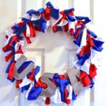 How to make an easy DIY Upcycled T-Shirt 4th of July Wreath in minutes!