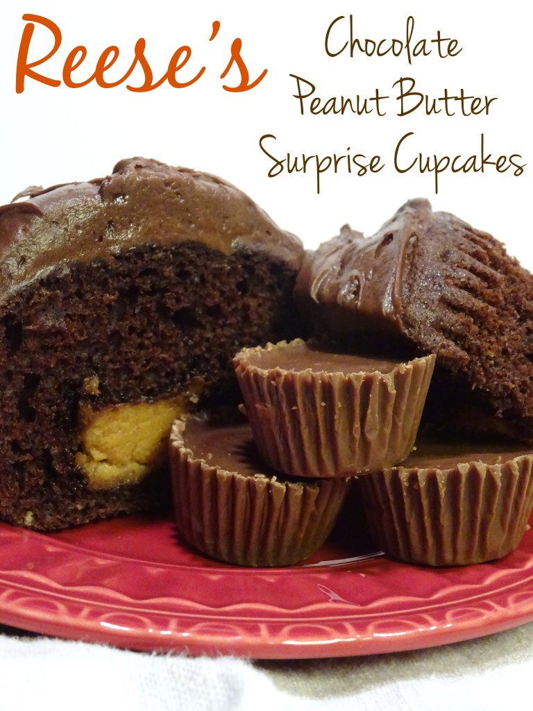 """Reese's + Box Cake Mix + a little trick for a """"made from scratch"""" taste = my favorite cupcake recipe"""