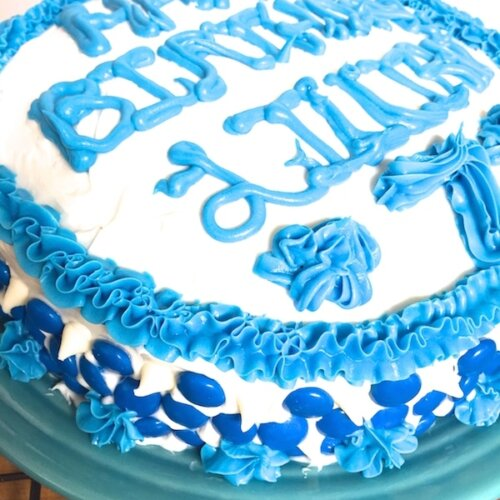 Awesome Frozen Birthday Cake Easy Marbled Cake The Soccer Mom Blog Funny Birthday Cards Online Fluifree Goldxyz