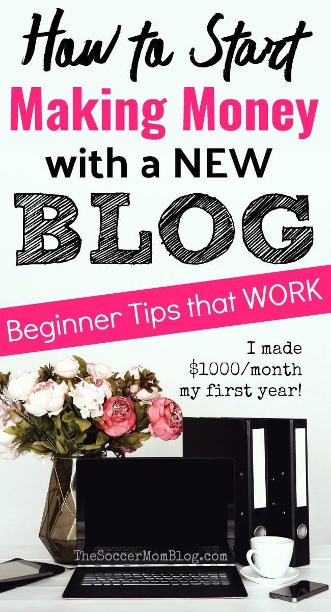 Yes, it IS possible to make money as a new blogger! These 5 tips will help set you up for blogging success right away.
