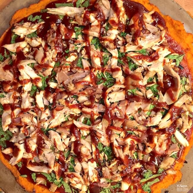 Sweet potato pizza - gluten free, dairy free