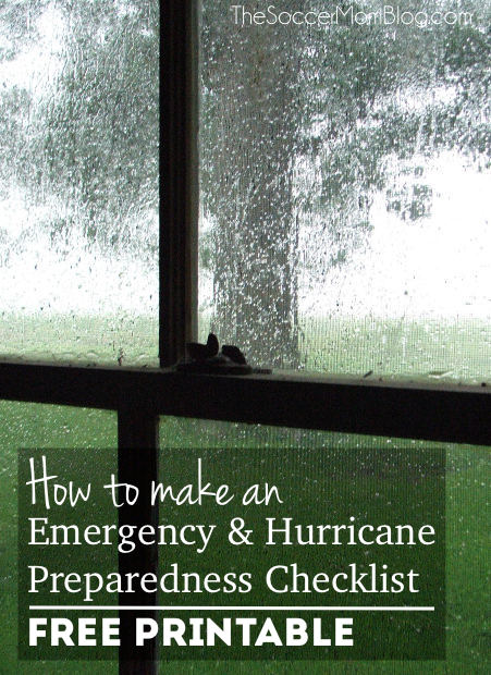 Are you ready in case of a weather emergency? What you need to know to make your family storm and hurricane preparedness checklist - FREE printable!