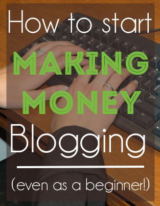 Five REAL ways to start making money blogging -- even as a beginner! These are the things I did to create an income working from home within a just a few months!