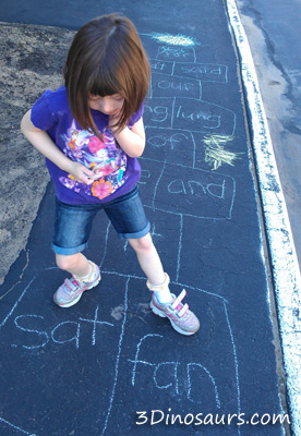 Multiple Level Hopscotch activity