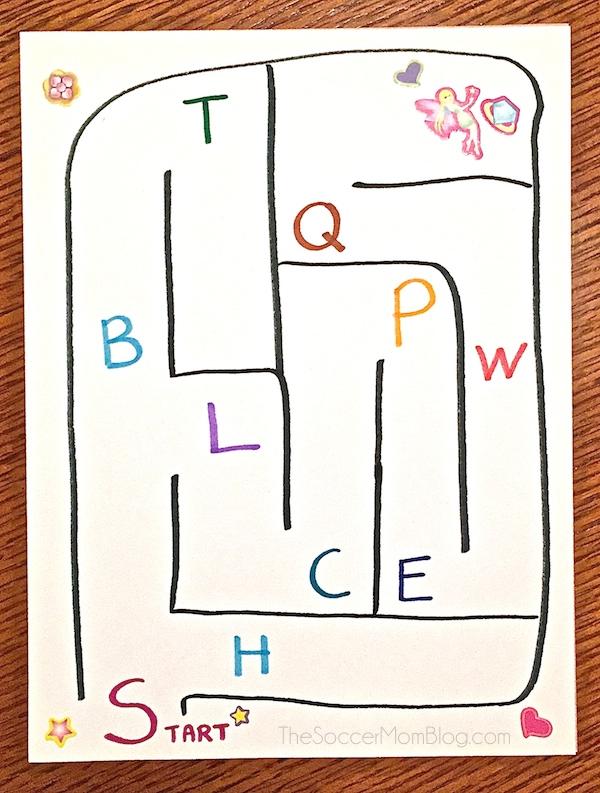 Alphabet Mazes Letter Recognition Game - The Soccer Mom Blog