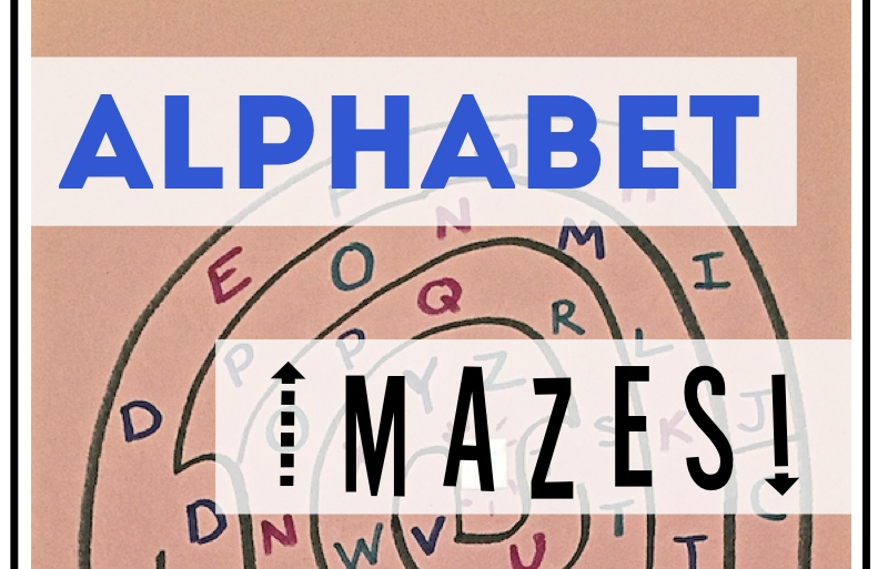 Alphabet Mazes Letter Recognition Game