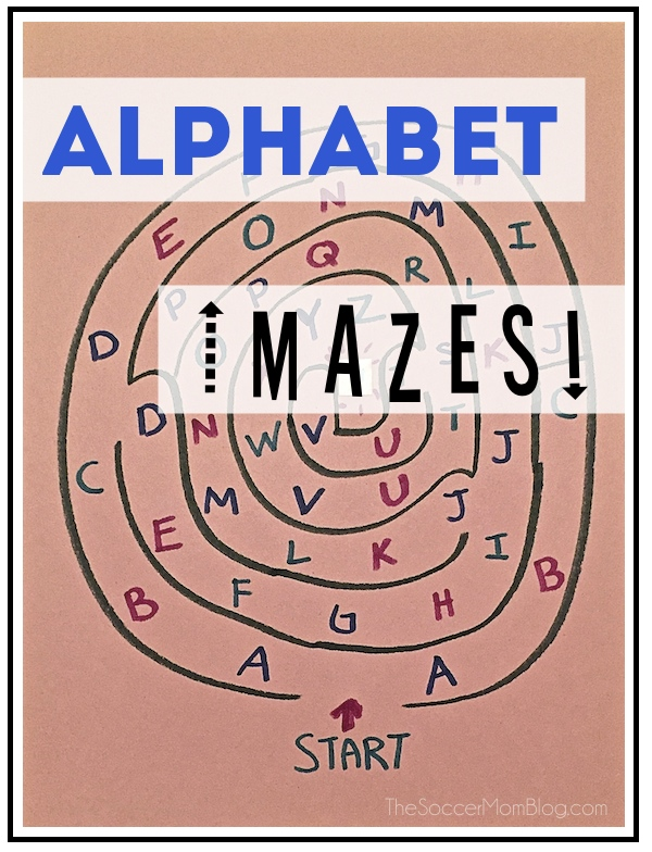 Make learning fun with alphabet mazes! Teach preschoolers their letters with this easy DIY game.