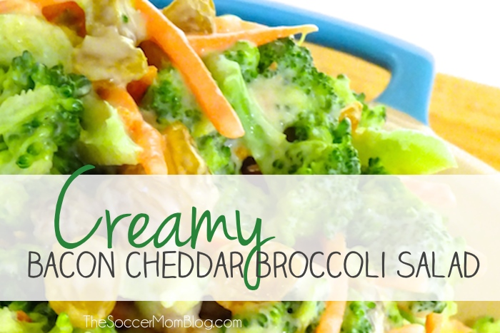 Creamy Cheddar Bacon Broccoli Salad