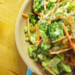 Creamy Bacon Cheddar Broccoli Salad is super easy and kid-approved! Everyone will love their veggies when they taste this delicious! #DipYourWay #ad