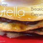 These Nutella Breakfast Crepes are light and delicious AND gluten free! A simple recipe that's as easy as making regular pancakes.