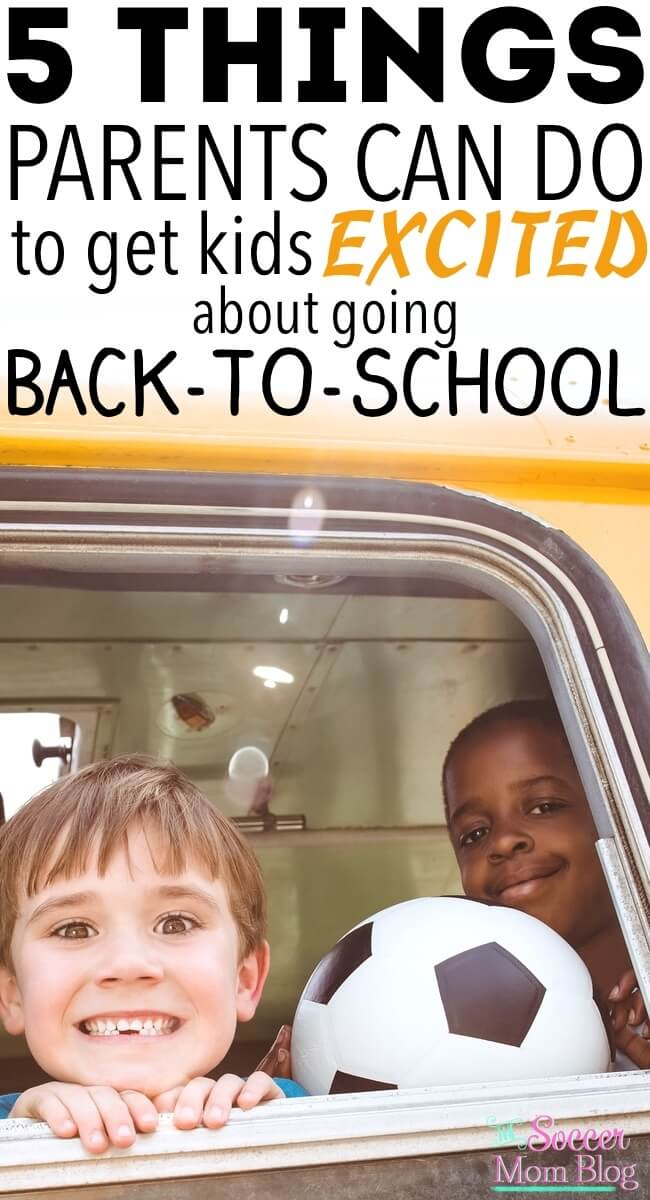 Summer ending doesn't have to be a bummer! 5 ways parents can get kids excited about back to school...they really DO work! Awesome ideas to celebrate the new school year and make kids feel special.