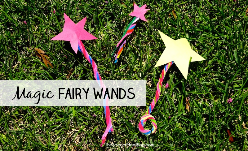 Magic Fairy Wands are an easy and beautiful kid's craft for hours of fun!
