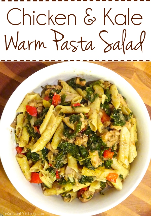 This warm pasta salad tastes even better than it looks (it's seriously amazing!!) Simple, healthy, and delicious - can also be served chilled.
