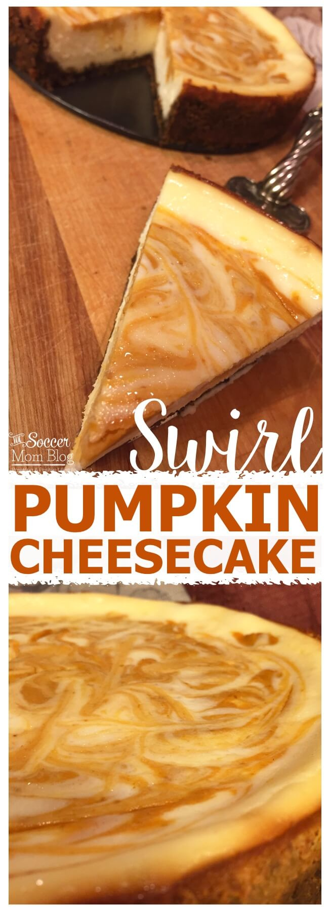 Pumpkin Swirl Cheesecake with Chocolate Gingersnap Crust - The Soccer ...