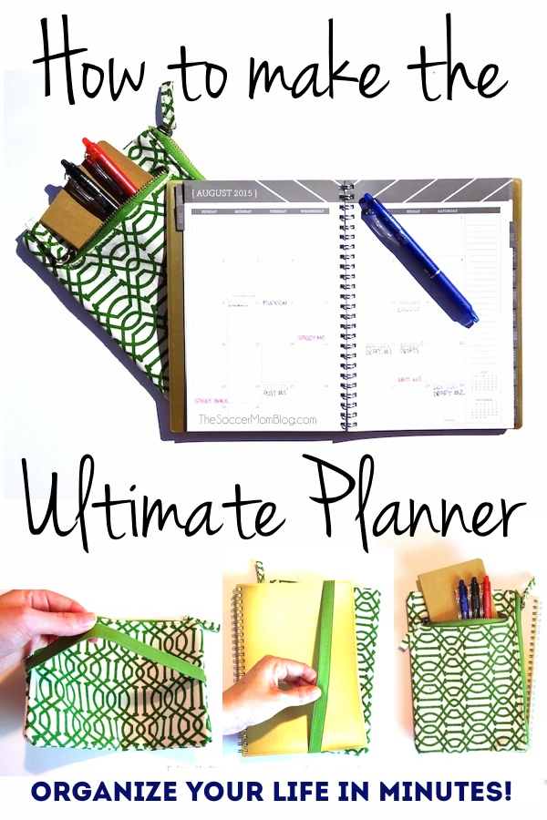Erase stress and get organized with this DIY ultimate planner! Makes the perfect (useful!) teacher gift. #EraseStress #ad