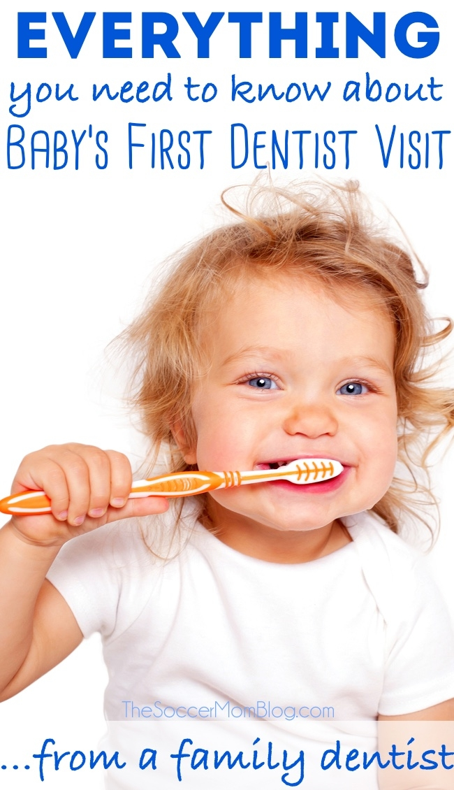 At what age should you schedule your baby's first dentist visit? What should you expect, why it's important, and tips to make brushing teeth easy and fun - from a family dentist!
