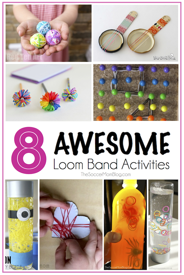 Our loom band kit has been sitting on the shelf because we couldn't figure it out, so I found 8 awesome Loom Band Activities that don't involve weaving!