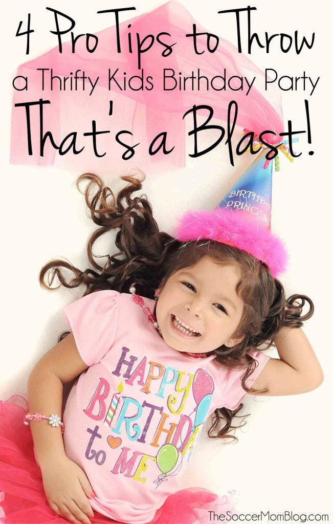 Tips from Lifestyle Expert Limor Suss about how to throw a thrifty kids birthday party with food, activities, and fun that won't break the bank!