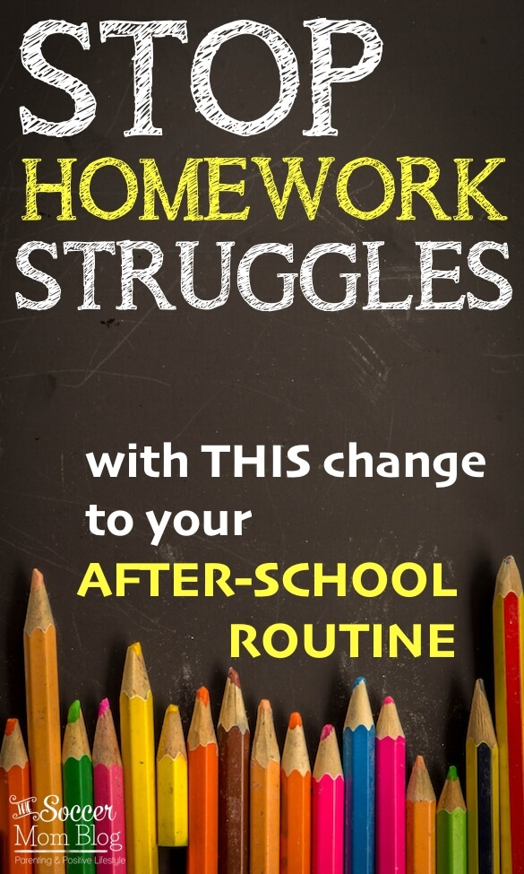 A change to our after school routine made a world of difference! Everyone is happier and homework gets done without a fuss!
