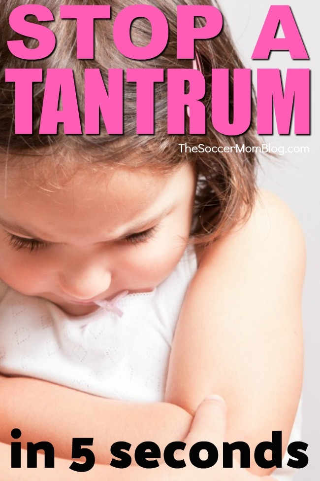 How to stop a tantrum FAST