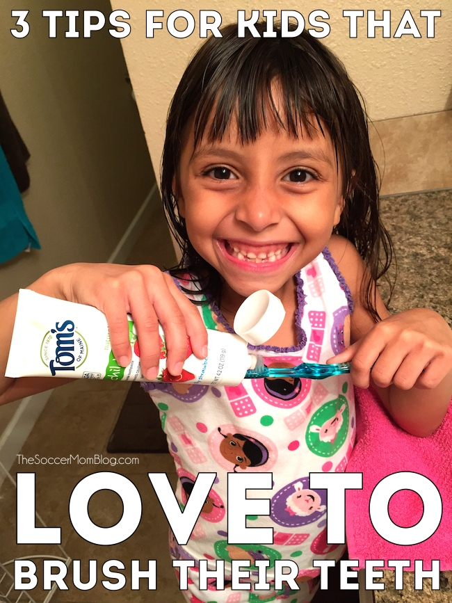 Three simple hacks to make brushing teeth fun. Your kids won't just cooperate, they will LOVE to brush their teeth! #NaturalGoodness ad