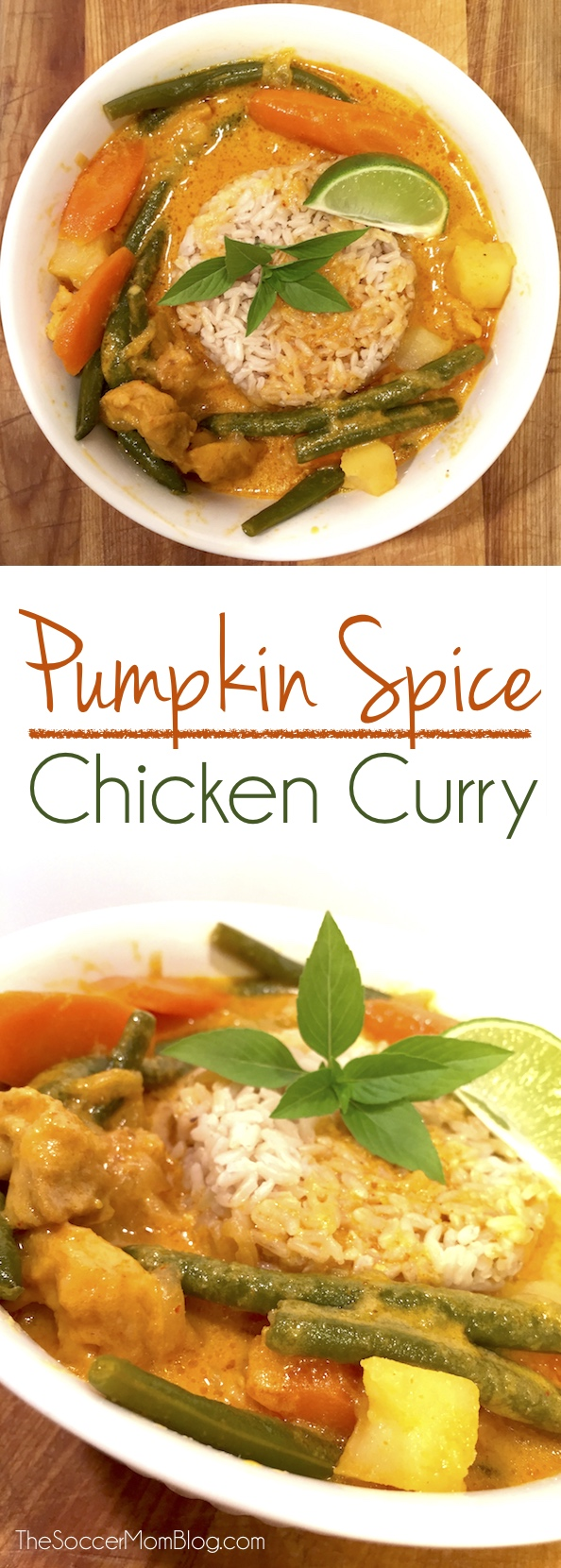 Pumpkin Spice Chicken Curry is the perfectly unexpected combination of Fall flavors. Rich, creamy, sweet, and spicy - this recipe will knock your socks off! (ad) #Treats4All