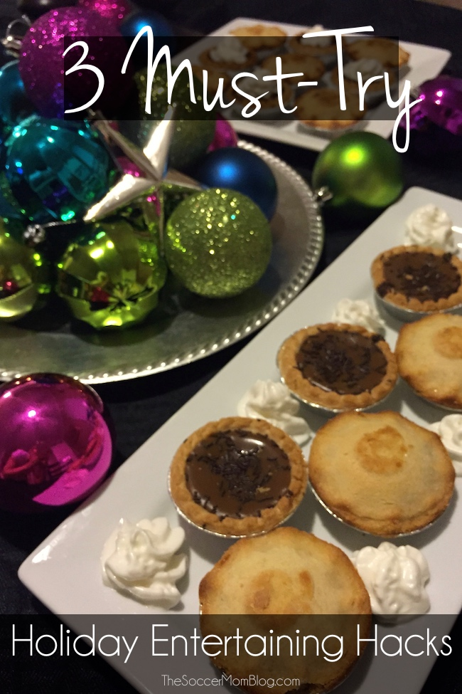 These holiday entertaining hacks will save you time and effort! Instead of scrambling while your guests arrive, you can ENJOY your company! #TrythePie [ad]