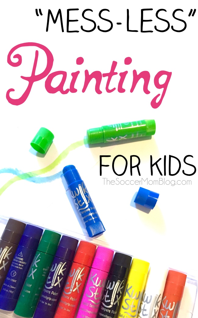 Painting is such a wonderful activity to inspire creativity and entertain kids for hours. Finally we found a way to paint with no mess! The kids have a blast and my furniture and the kids' clothes are safe! (sponsored)