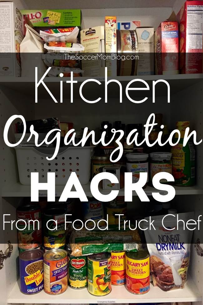 Food truck kitchens are TINY, so organization is key! Use these tips from a food truck chef to organize your kitchen at home. #PutALabelOnIt (ad)