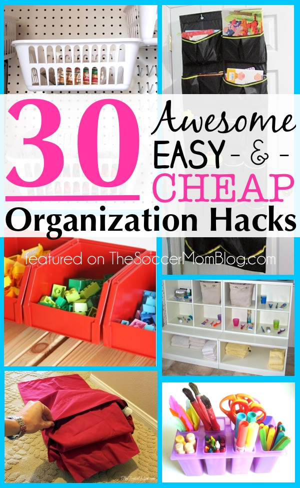 30 awesome organization hacks the soccer mom blog for 9 kitchen life hacks